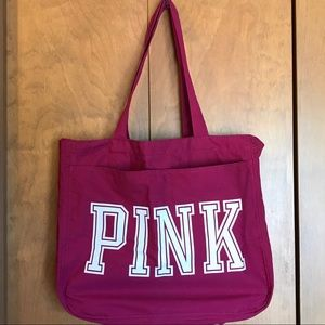 PINK Zippered Tote